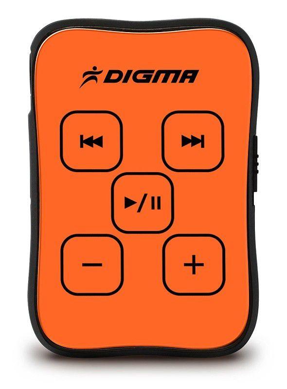 MP3 плеер DIGMA MP600 flash 2Гб оранжевый [mp600-2g]