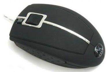 Мышь A4 X5-22D-1 оптическая проводная USB, серебристый и черный [x5-22d-1 bl]