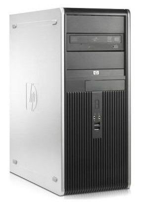 HP dc7900CMT,  Intel  Core2 Quad  Q9400,  DDR2 4Гб, 500Гб,  Intel GMA X4500,  DVD-RW,  Windows Vista Business,  черный и серебристый [fu056ea]