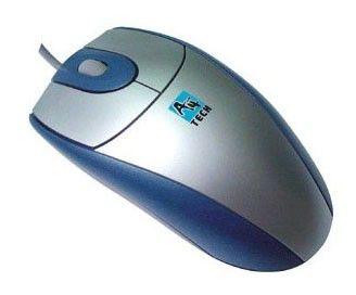 Мышь A4 SWOP-25 оптическая проводная PS/2, синий и серебристый [swop-25 blue]
