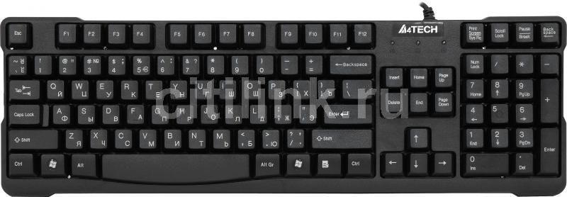 Клавиатура A4 KB-750,  USB, черный [kb-750 black]