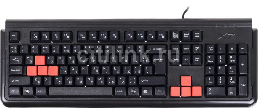 Клавиатура A4 X7-G300,  USB, черный