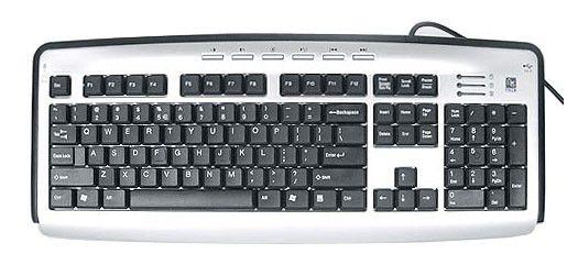 Клавиатура A4 KL-23MU,  USB, серебристый + черный [kl-23muu sil/bl]