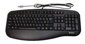 Клавиатура A4 KL-30,  USB, c подставкой для запястий, серебристый + черный [kl-30 sil/bl]