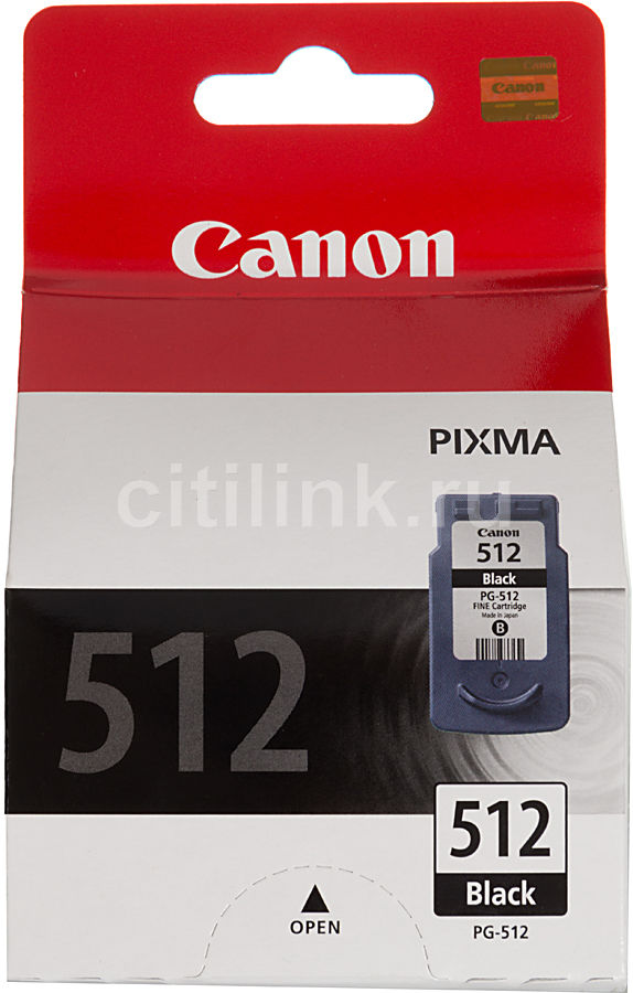 Купить Картридж CANON PG-512, черный в интернет-магазине СИТИЛИНК, цена на Картридж CANON PG-512, черный (513118) - Москва