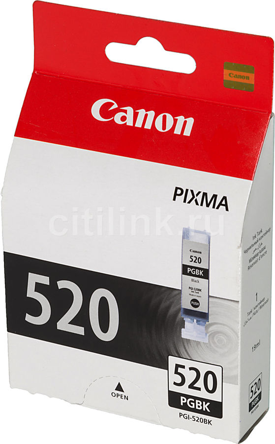 Картридж CANON PGI-520BK черный [2932b004] картридж струйный canon pgi 520bk черный для canon ip3600 4600 mp540 620 630 980