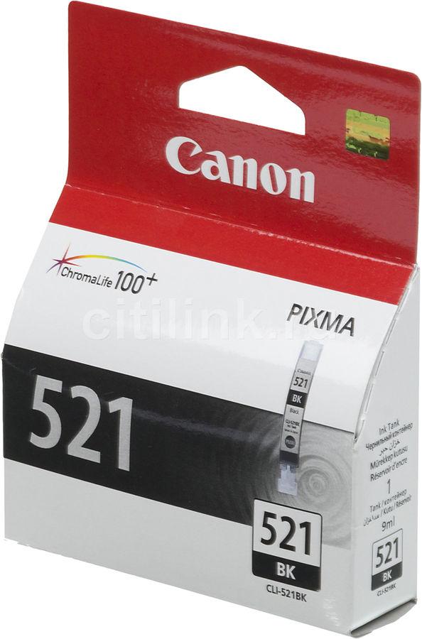 Картридж CANON CLI-521BK черный [2933b004]