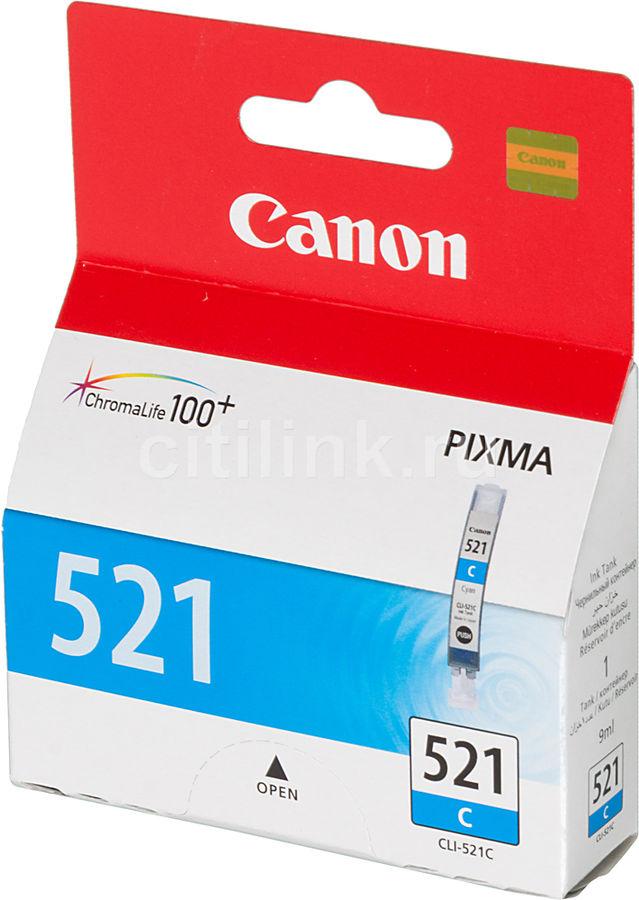 Картридж CANON CLI-521C голубой [2934b004]