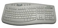 Клавиатура MICROSOFT Comfort Curve 2000,  USB, белый [mskr-cck2000 white]