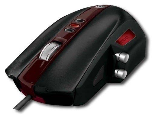 Мышь MICROSOFT SideWinder MSMR-SWM лазерная проводная USB, черный и бордовый
