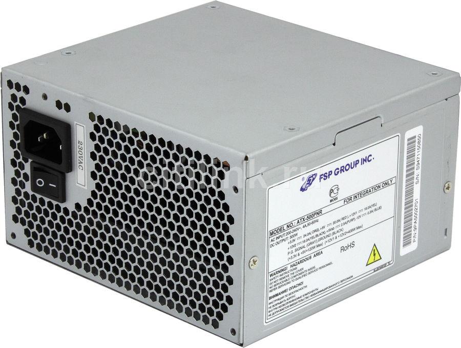 Блок питания FSP 500PNR,  500Вт,  120мм [atx-500pnr]