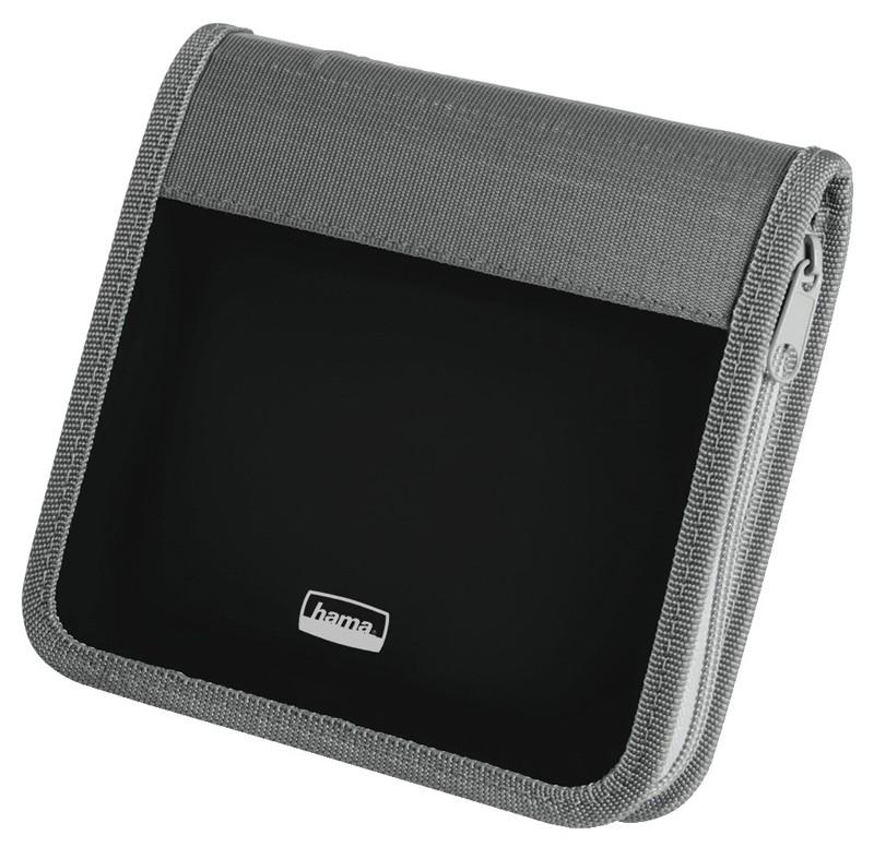 Портмоне HAMA H-51315, серый+черный, для 28 дисков