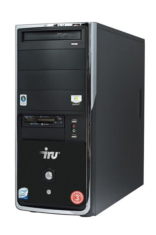 IRU Ergo Home 123,  Intel  Core2 Duo  E7500,  DDR2 4Гб, 640Гб,  nVIDIA GeForce GTS 250 - 1024 Мб,  DVD-RW,  CR,  Windows Vista Home Premium,  черный