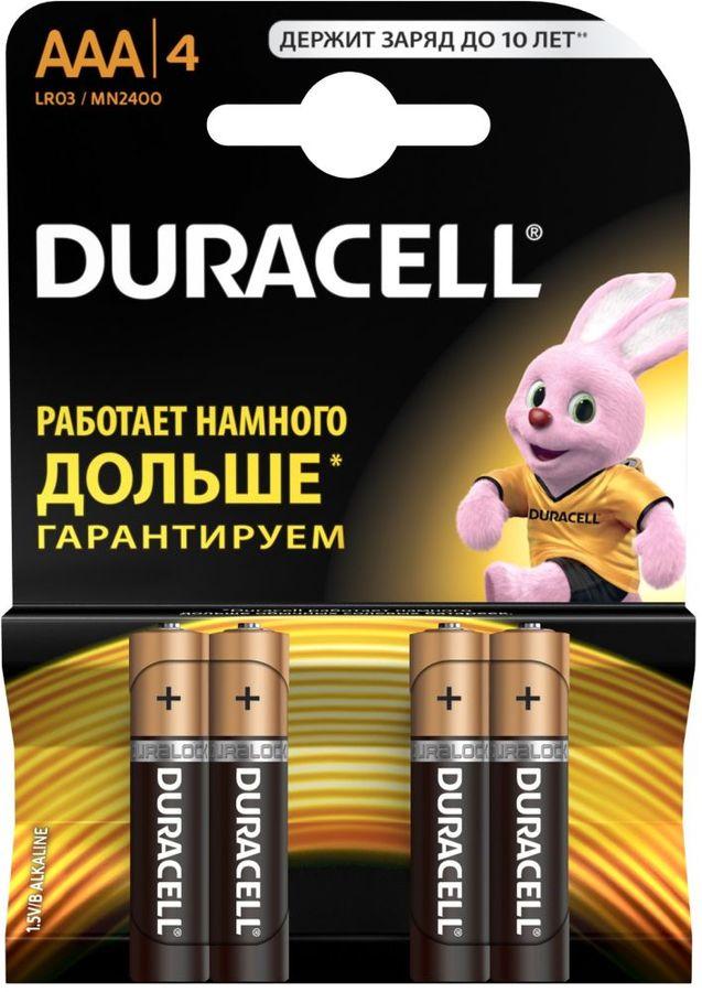 Батарейка DURACELL Basic LR03-4BL,  4 шт. AAA