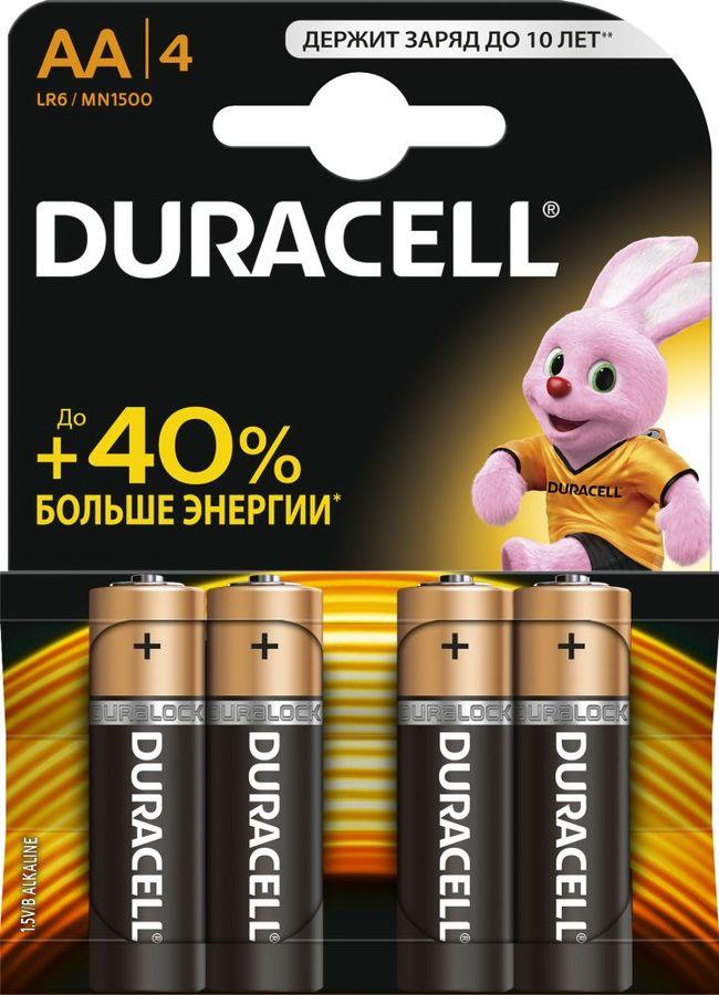 Батарея DURACELL Basic LR6-4BL,  4 шт. AA