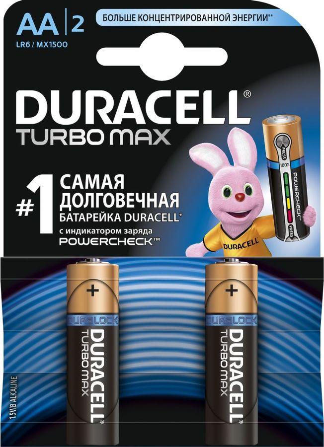 Батарея DURACELL Turbo MAX LR6-2BL,  2 шт. AA