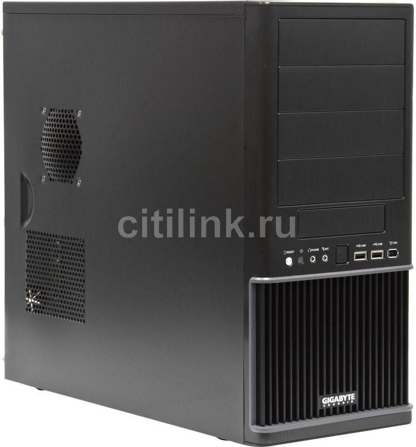 Корпус ATX GIGABYTE Setto 1020 GZ-AX1CA/AX2CBS-SNB, Midi-Tower, без БП,  черный