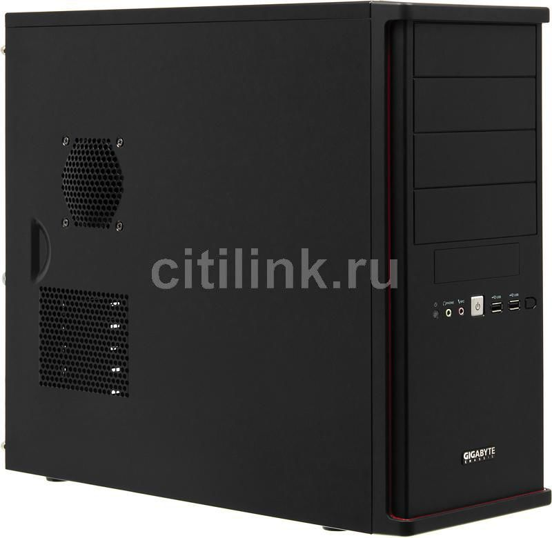 Корпус ATX GIGABYTE GZ-X7, Midi-Tower, без БП, черный
