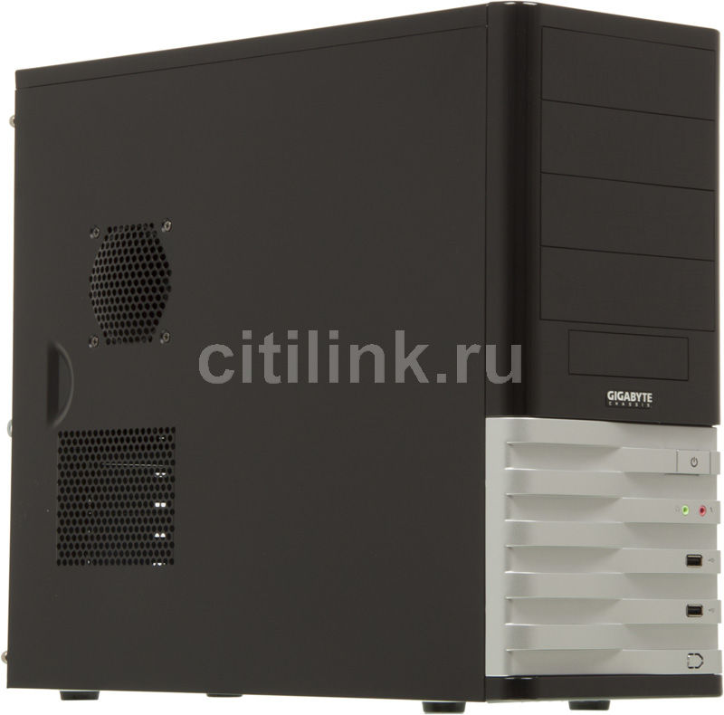 Корпус ATX GIGABYTE GZ-X8, Midi-Tower, без БП, черный