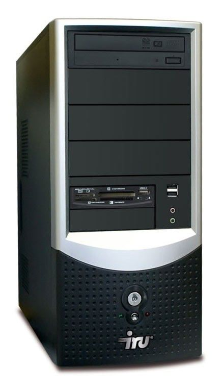 IRU Intro Home 123W,  Intel  Celeron  E1400,  DDR2 1Гб, 160Гб,  ATI Radeon HD 3450 - 256 Мб,  DVD-RW,  CR,  Free DOS,  черный