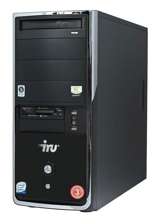 IRU Ergo Home 123W,  Intel  Core2 Duo  E7400,  DDR2 2Гб, 320Гб,  nVIDIA GeForce 9600 GT - 512 Мб,  DVD-RW,  CR,  Windows Vista Home Basic,  черный