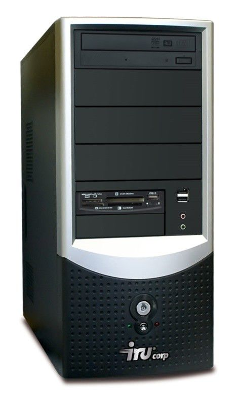 IRU Intro Corp 123,  Intel  Pentium Dual-Core  E5300,  DDR2 1Гб, 160Гб,  Intel GMA X3100,  DVD-RW,  CR,  Free DOS,  черный