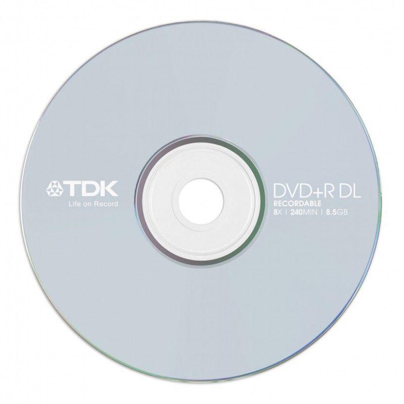 Оптический диск DVD+R TDK 8.5Гб 8x, 10шт., slim jewel case [t19544]