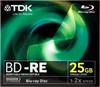 Оптический диск BD-RE TDK 25Гб 2x, 5шт., t19798, full jewel case вид 1