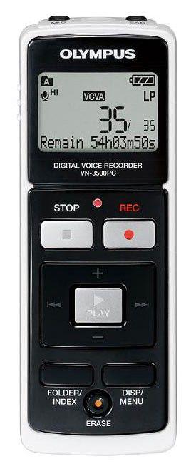 Диктофон OLYMPUS VN-3500PC 128Мб,  черный [n2279521]