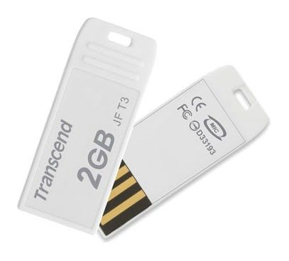 Флешка USB TRANSCEND Jetflash T3W 2Гб, USB2.0, 5шт, белый [ts2gjft3-5w]
