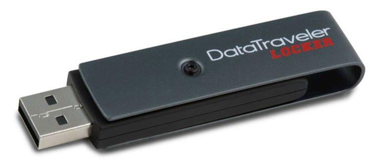 Флешка USB KINGSTON DataTraveler Locker 8Гб, USB2.0, серый и черный [dtl/8gb]