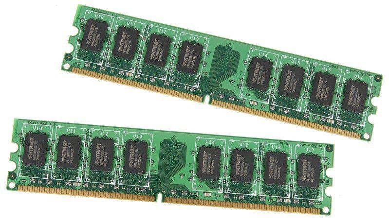 Модуль памяти PATRIOT DDR2 -  2x 1Гб 800, DIMM,  Ret