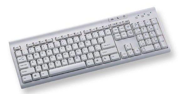 Клавиатура CHICONY KU-9810,  USB, белый [ku-9810 wh usb]