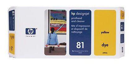 Печатающая головка HP №81 C4953A,  желтый