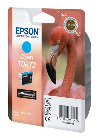 Картридж EPSON T0872 голубой [c13t08724010]