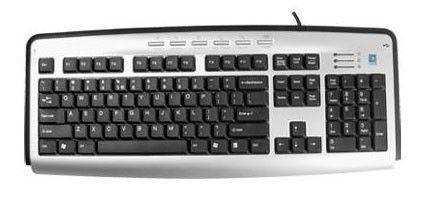 Клавиатура A4 KLS-23,  USB, серебристый + черный