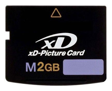Карта памяти xD-Picture Card TRANSCEND 2 ГБ, TS2GXDPCM,  1 шт.