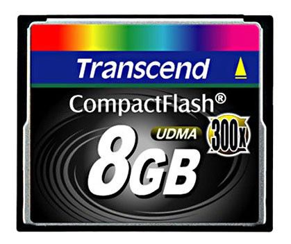 Карта памяти CF TRANSCEND 8 ГБ, 300X, TS8GCF300,  1 шт.