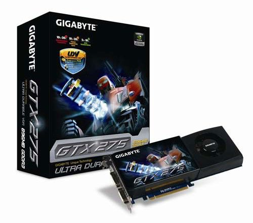 Видеокарта GIGABYTE GeForce GTX 275,  896Мб, DDR3, Ret [gv-n275ud-896h]