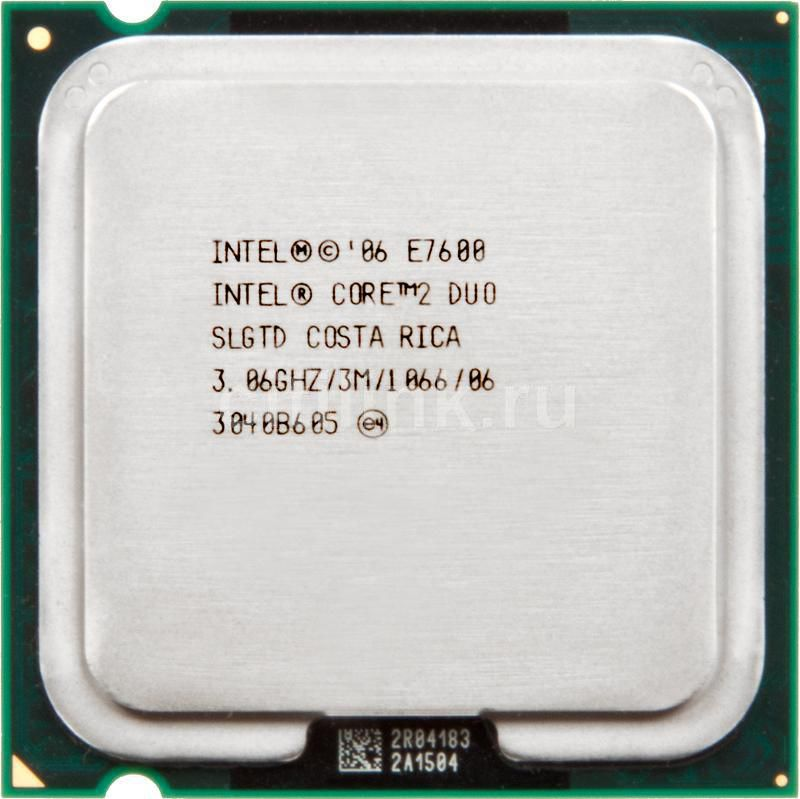 Процессор INTEL Core 2 Duo E7600, LGA 775 OEM [at80571ph0833mlslgtd]