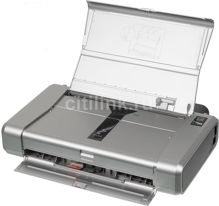 Принтер CANON PIXMA IP100,  струйный, цвет: серебристый (аккумулятор в комплекте) [1446b029]