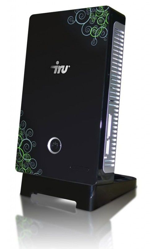 IRU Home Nettop 005,  Intel  Atom  330,  DDR2 1Гб, 250Гб,  Intel GMA 950,  DVD-RW,  CR,  Windows XP Home,  черный и зеленый