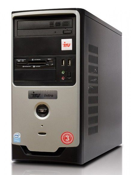 IRU Intro Home 123W,  Intel  Pentium Dual-Core  E2180,  DDR2 1Гб, 250Гб,  nVIDIA GeForce 9400 GT - 512 Мб,  DVD-RW,  CR,  Free DOS,  черный