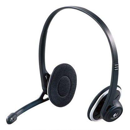 Наушники с микрофоном LOGITECH H330,  981-000128,  накладные, серый