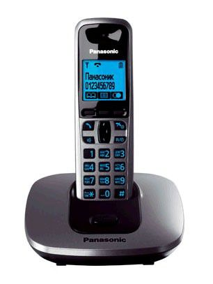 Радиотелефон PANASONIC KX-TG6411RUT,  темно-серый металлик