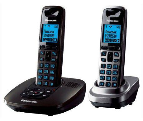 Радиотелефон PANASONIC KX-TG6422RU,  серый металлик [kx-tg6422ru1]
