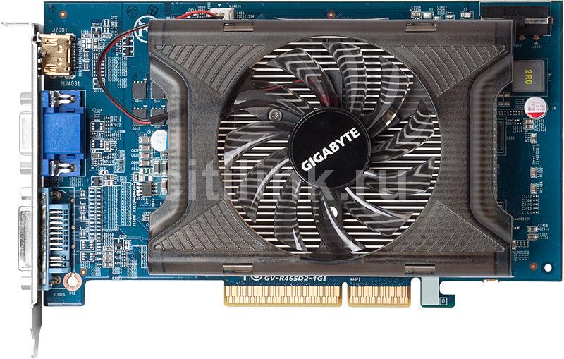 Видеокарта GIGABYTE Radeon HD 4650,  1Гб, GDDR2, Ret [gv-r465d2-1gi]
