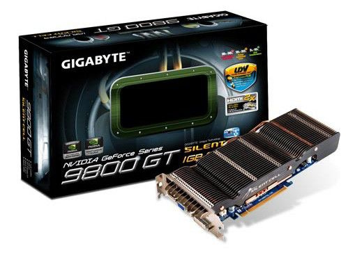 Видеокарта GIGABYTE GeForce 9800 GT,  1Гб, DDR3, Ret [gv-n98tsl-1gi]