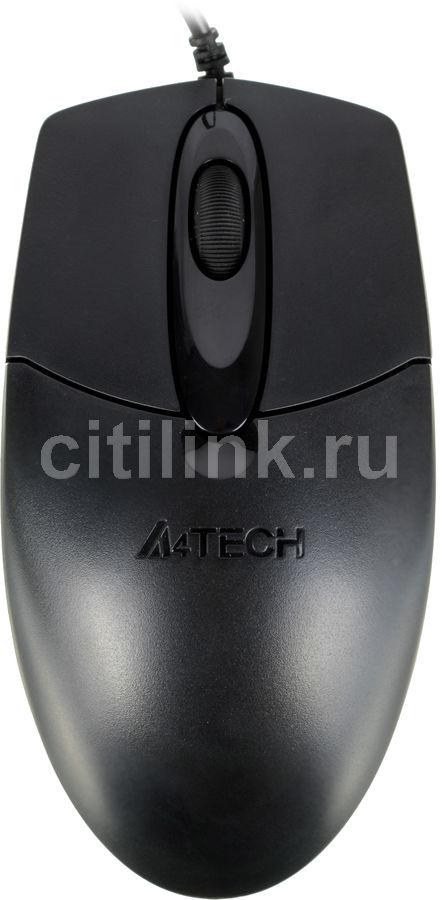 Мышь A4 OP-720 оптическая проводная PS/2, черный [op-720 ps2 (black)]