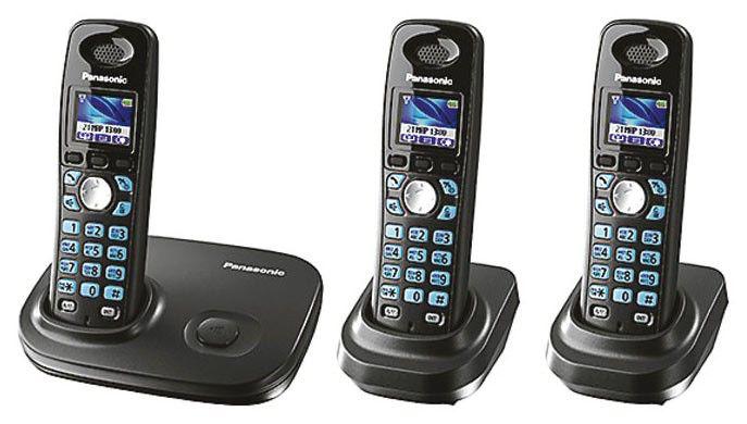 Радиотелефон PANASONIC KX-TG8012RUT-P,  темно-серый металлик [kit-kx-tg8012rut-p]